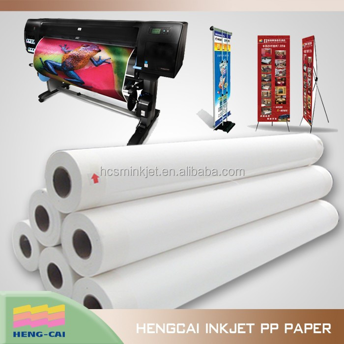 Water proof Self adhesive pp film for super market advertisement