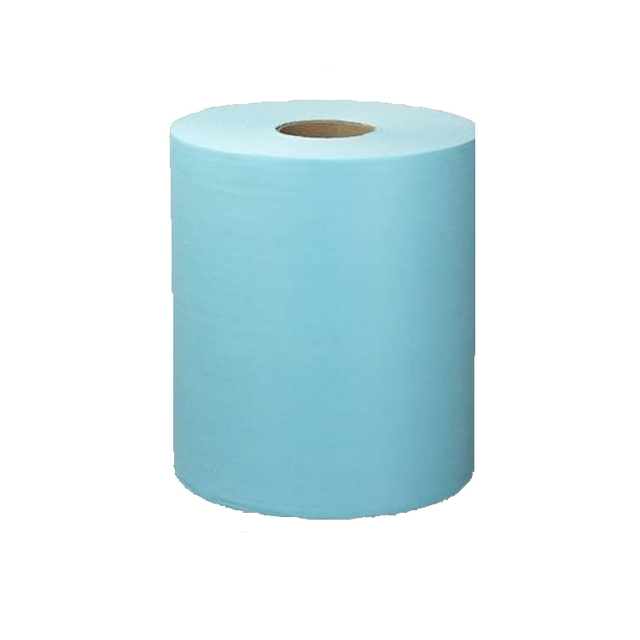 Perforated woodpulp polyester disposable dust cloth roll
