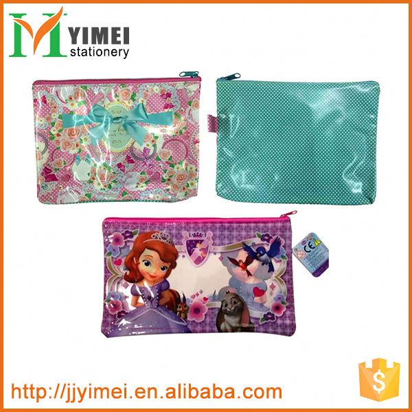 New product custom design file bag pvc ziplock document holder from China