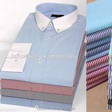 Mens Button Down Collar Blue Stripes Dress Shirts