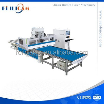 High quality automatic feeding cnc router for wooden door