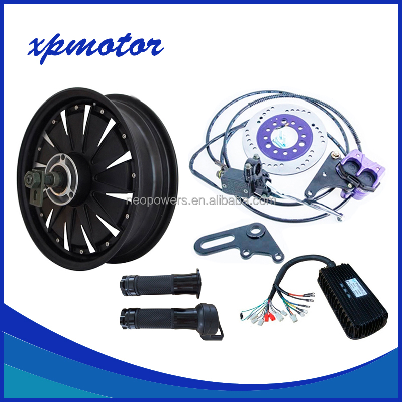 QS 260 12inch 5000W 45H V3 Hub Motor For Electric Motorcycle scooter Conversion Kits Speed 100kph