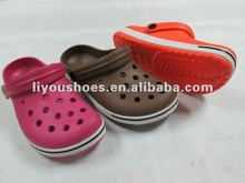 tpu shoes children CLOG plastic shoes with hole from liyoushoes