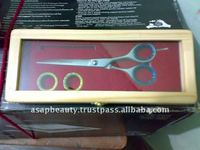 wooden Scissors Box with mirror top