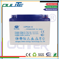 12V24ah sealed maintenance free rechargeable lead acid battery