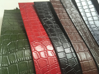 Embossed leather fabric Crocodile design PU leather
