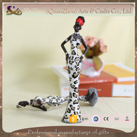 African lady polyresin figurine home decoration home deco