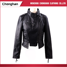 Chonghan 2017 Fashion Custom Winter Pu Leather Jacket For Women