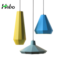 Decorative colorful cast iron pendant lamp lamparas de colgantes