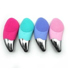 Rechargeable Waterproof Silicone Face Brush Sonic Facial Cleansing Brush