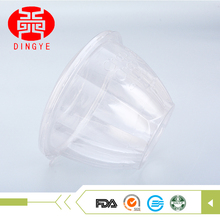 Beauty rose shape crystal plastic packing lid dessert bowl for take away