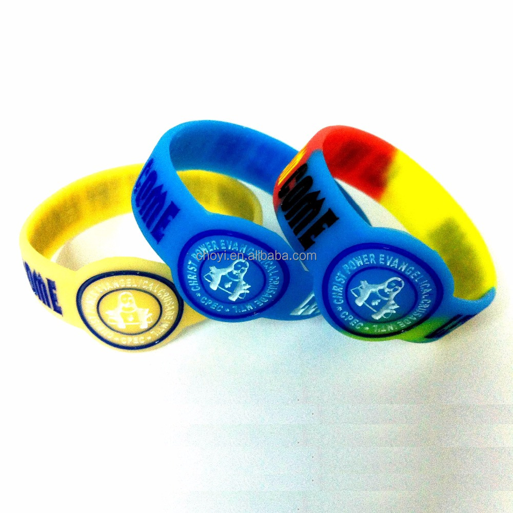 eco-friendly durable rubber band custom bracelet silicon wristband
