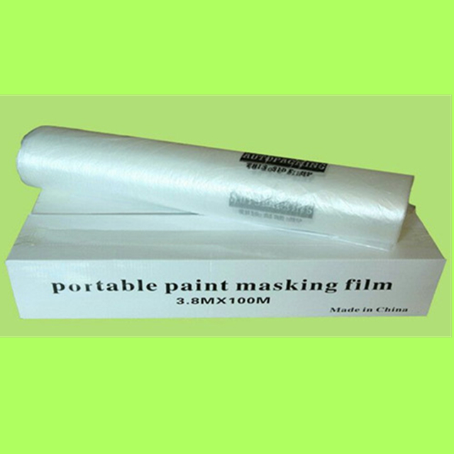 disposable plastic overspray protective sheeting for auto body film auto detailing products