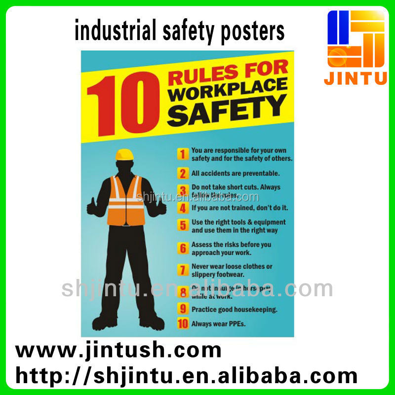 High Quality Industrial Safety Posters/Stickers/Decals