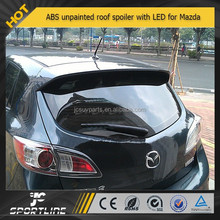 ABS UNAPINTED 04-09 MAZDA3 M3 3 HATCHBACK 5DR REAR WING HATCH ROOF SPOILER WITH LED (Fits: Mazda 3)