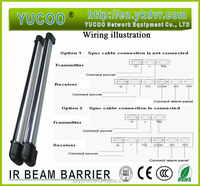 outdoor 5-80m 6 Beams IR beam barrier/ sensor/ fence barrier Wired or wireless