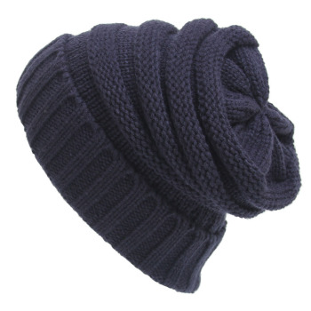 Custom winter outdoor cap unisex stripe knitted hat