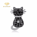 Cute Cat Shape Jewellery Silver Pendant Necklaces