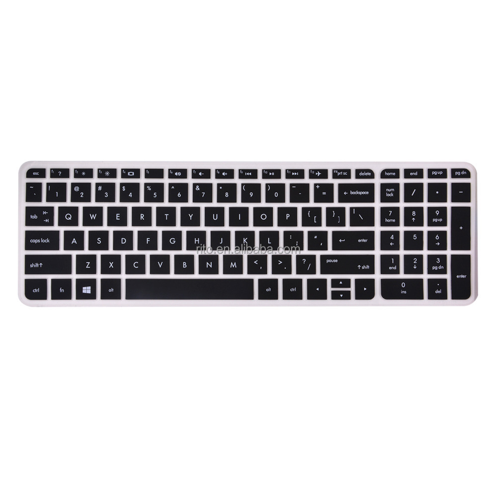 Silicone Keyboard Cover for New 15.6-Inch HP Pavilion 15, US Layout