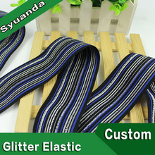Multi-style Waterproof Glitter Printed Tpu Clear Elastic Tape For Bra Strap