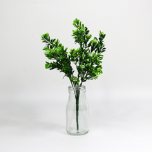 holiday decoration indoor plastic artificial evergreen branch with leaf