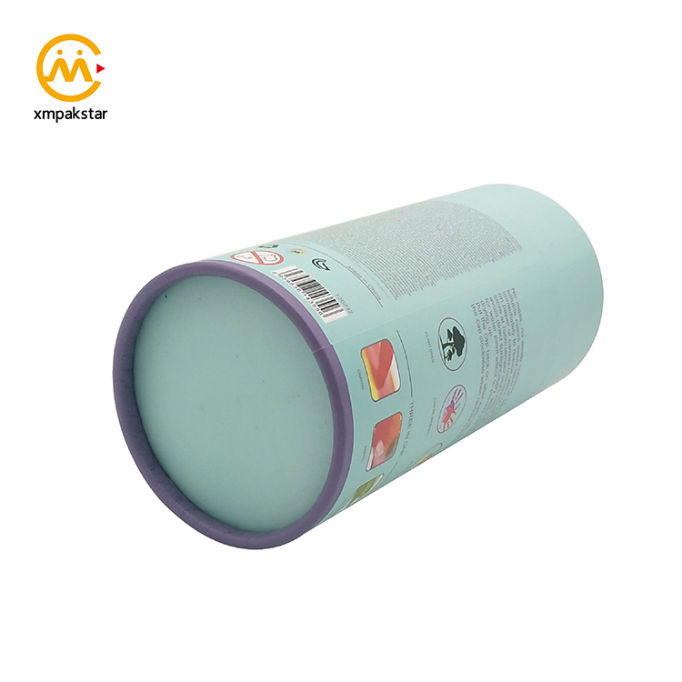 Full color printed ready to buy cylinder packaging cardboard boxes