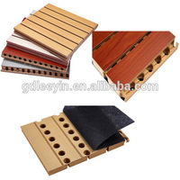 Best Price SGS/CE MDF Anti-fire Soundproof Grooved Acoustic Panel For Interior Wall Decoration
