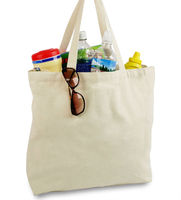Large Recycled grocery bag shopping carry bag