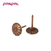 Customized antique brass plated decorative upholstery thumb tack door nails