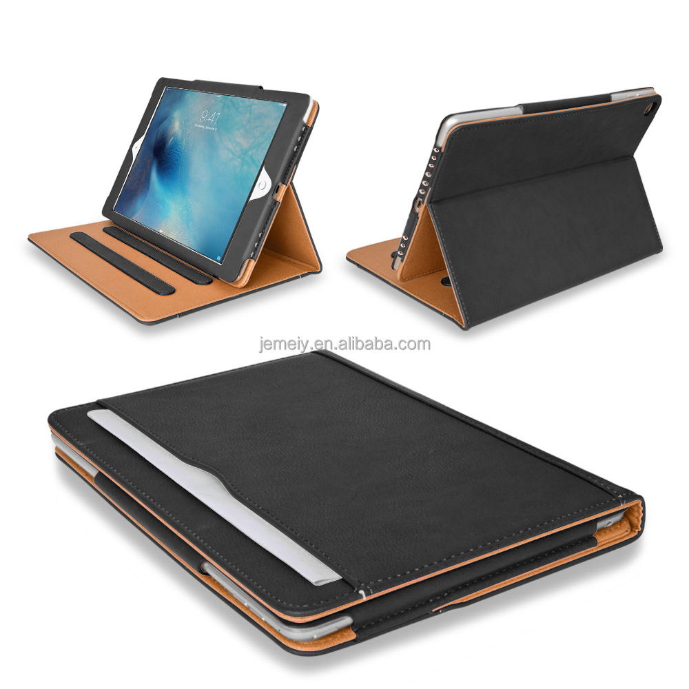 Tablet case For ipad pro 9.7inch Black & Tan Cases For Ipad case Pu leather smart stand cover with sleep wake