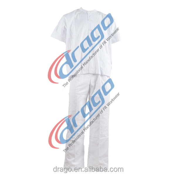 White hospital gown for doctor uniform