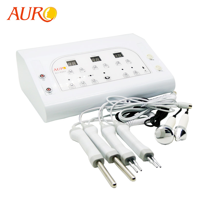AU-8201Bio microcurrent skin tightening machine with ultrasound Heads For <strong>Beauty</strong>