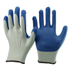 NMSAFETY 10 gauge cheap natural polycotton latex coated top gloves