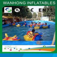 Outdoor PVC above ground inflatable swimming paddle boats pool