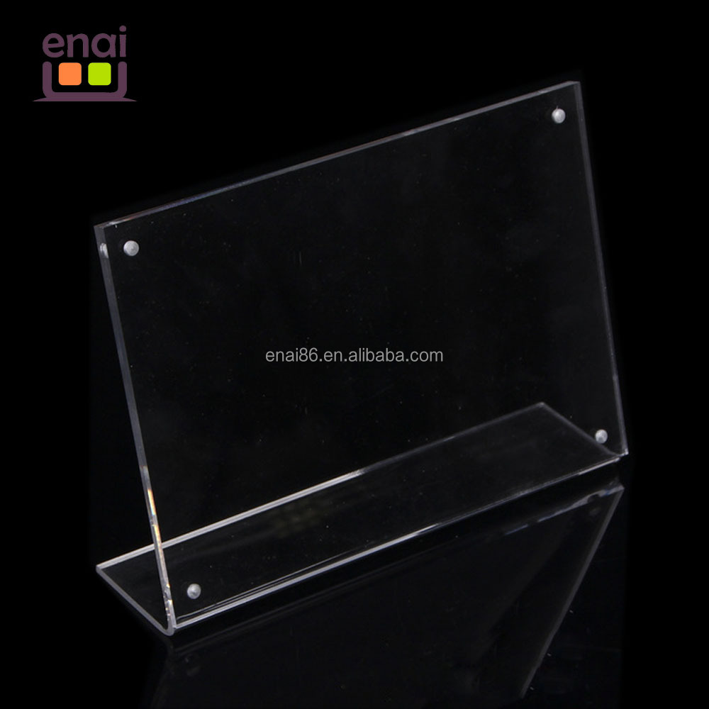 superior transparent acrylic photo frame dislayer stand with customizing paper insert for gift and promotion