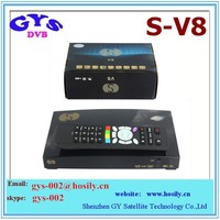 Original dvb -s2 tv box s-v8 Support YouTube/You-porn satellite receiver