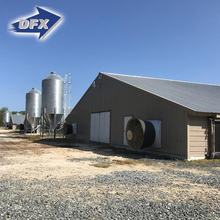 Prefab Broiler House Design Steel Structure Poultry Farm Building for Pakistan