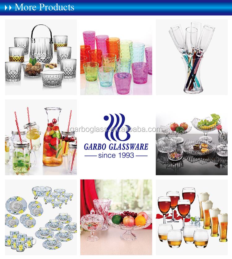 China Factory Wholesale 18pcs Spray Beer Tumbler Colored Glassware