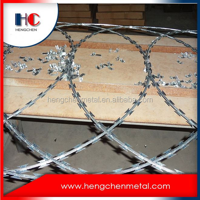 China stainless colorful razor barb wire