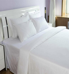 Hotel Solid color 100% Cotton /Microfiber fabric bed sheet set