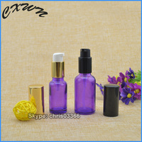 Beauty Pump Spray Cosmetic bottle purple perfume spray glass bottle airless pump glass bottles