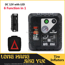 portable inflator with sealant portable mini air compressor with emergency LED light DC 12v air portable inflator