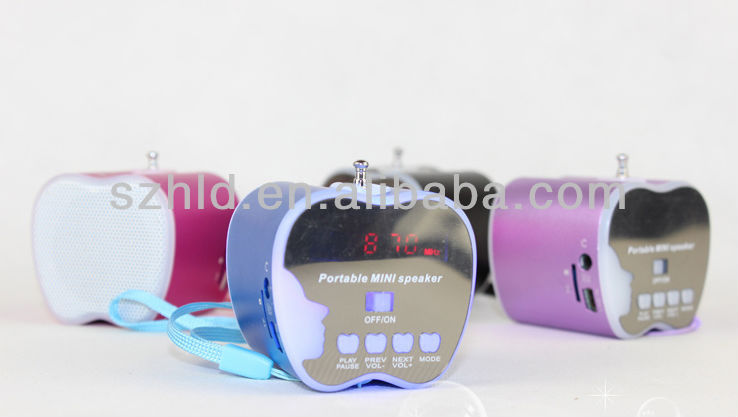 With FM radio USB portable multimedia mini audio speaker