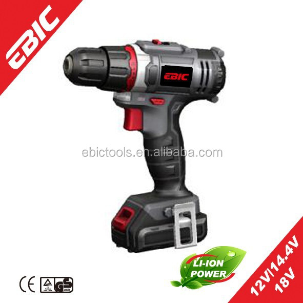 Power Tool 12V/14.4V/18V 10mm Cordless <strong>Drill</strong> with Li-ion battery