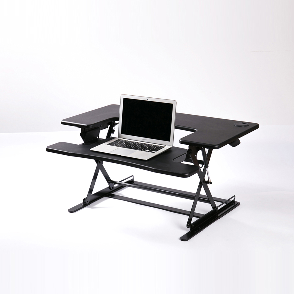 monitor stand up desktop working station