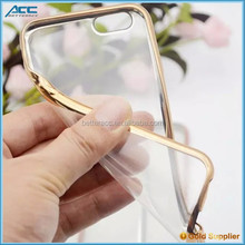 New Electroplating highlight ultra thin TPU case for iphone 6, TPU for iphone 6 iphone 6 plus clear case