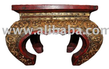 Wooden Traditional Thai Table Decoration Furniture Wood Carving Thailand High Quality Handmade Antique Woodcraft