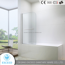 Hot Sell Tempered Glass Shower Screen For Bath Tub