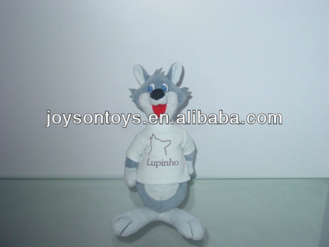 animal shaped stuffed plush toy with clothes