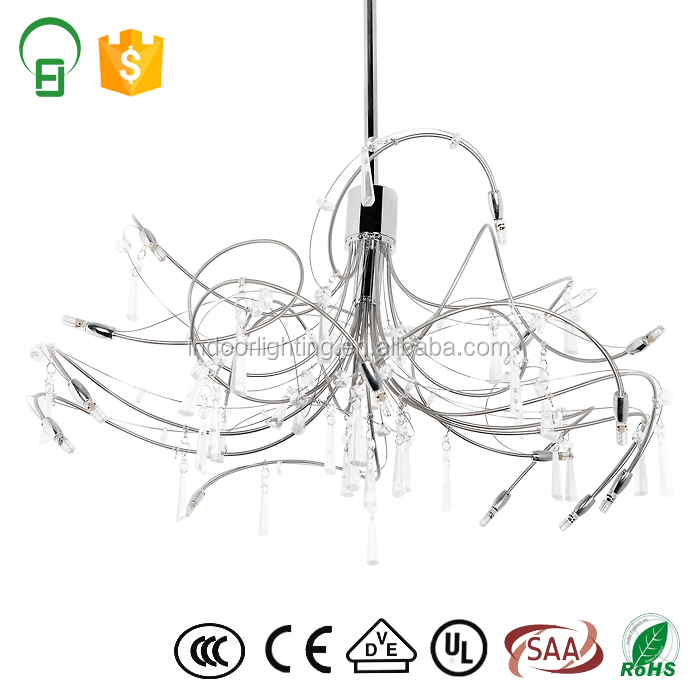 Modern Glass Art Deco Light Fixtures Chandelier For Hotel Living Room
